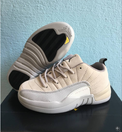kid air jordan 12 low top shoes-003