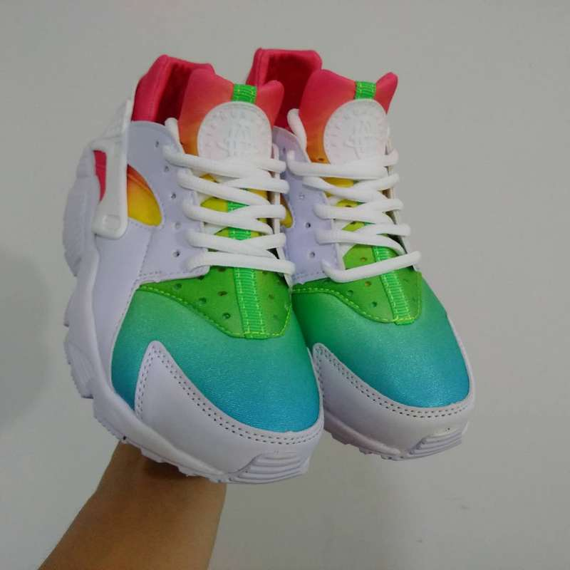 new style 88913 013f3 nike air huarache run men Rainbow ID-nike air huarache run ...