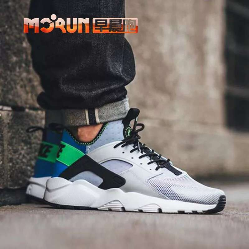 nike air huarache run ultra men LOC0895 white green