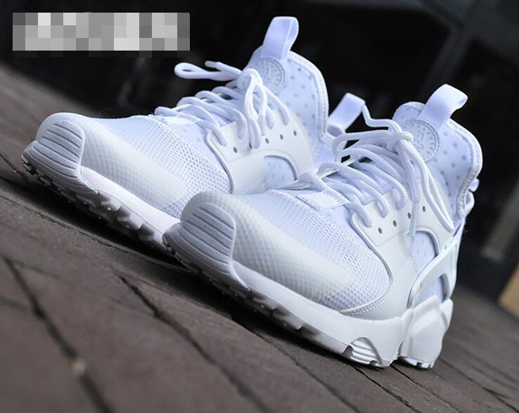 nike air huarache run ultra men TRIPLE WHITE