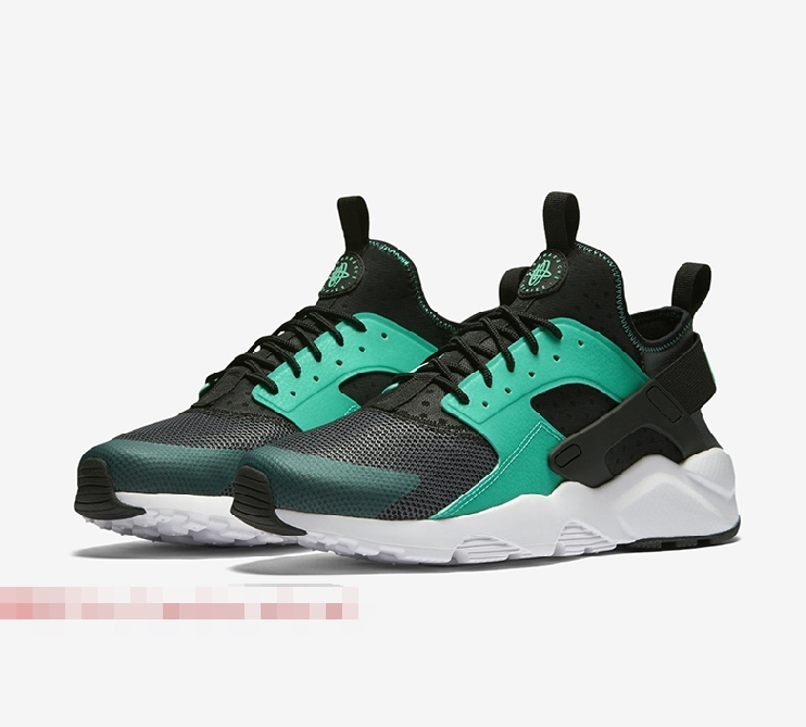 nike air huarache run ultra women white black green