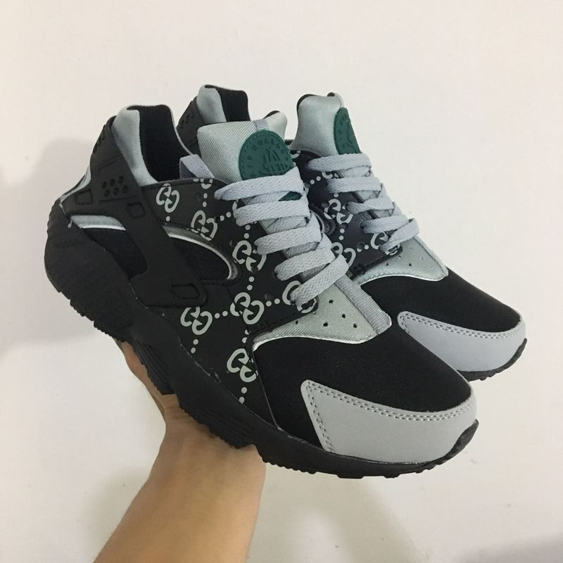 nike air huarache run women black grey ID