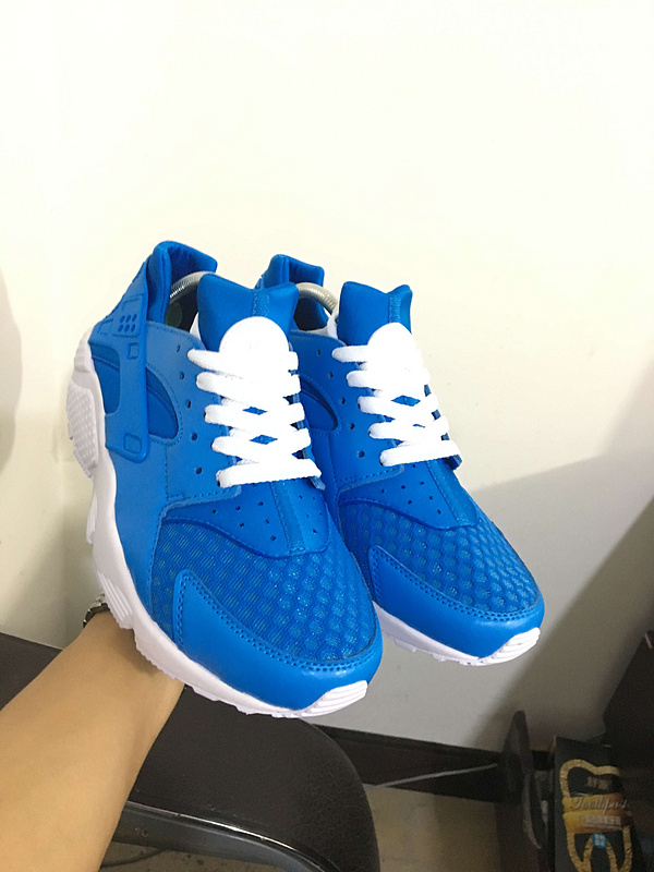nike air huarache run women ID white blue