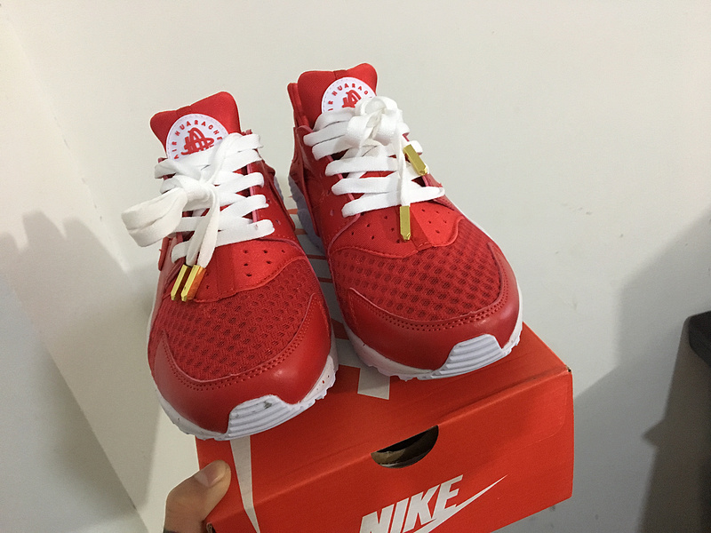 nike air huarache run women ID all red